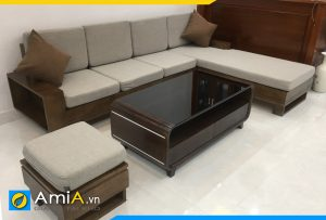 Ghế sofa gỗ sồi đẹp kê phòng khách