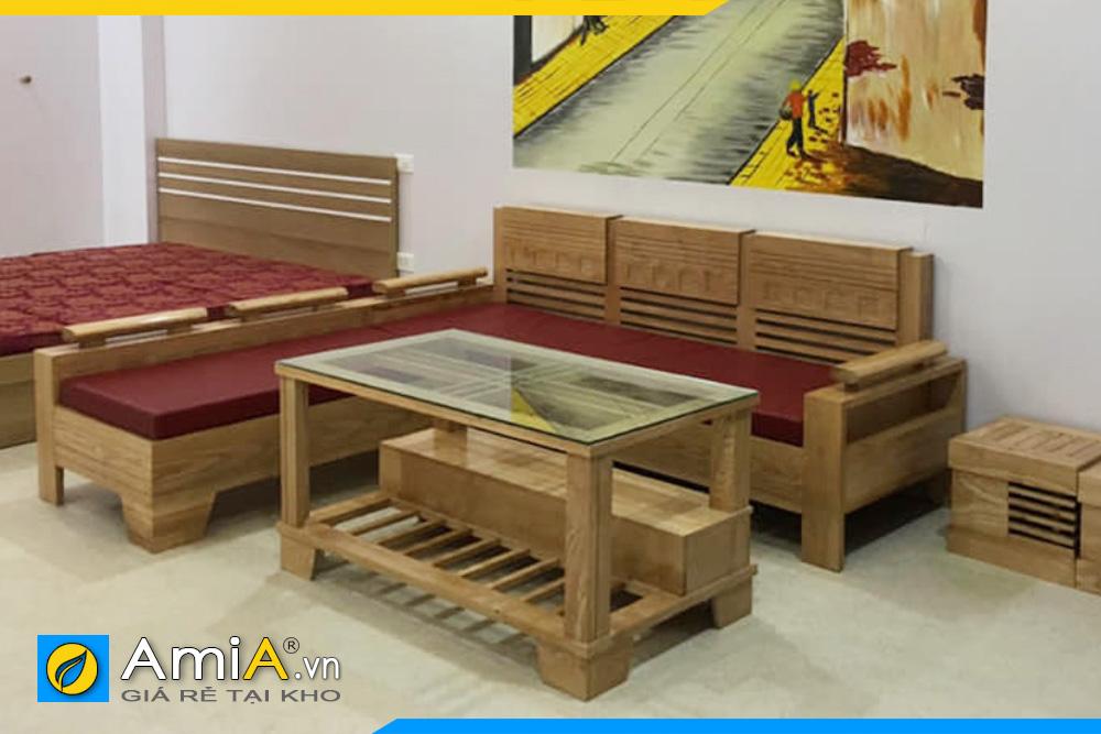 bộ ghế sofa gỗ đẹp trẻ trung AmiA4220