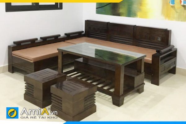 bộ ghế sofa gỗ sồi đẹp AmiA4220
