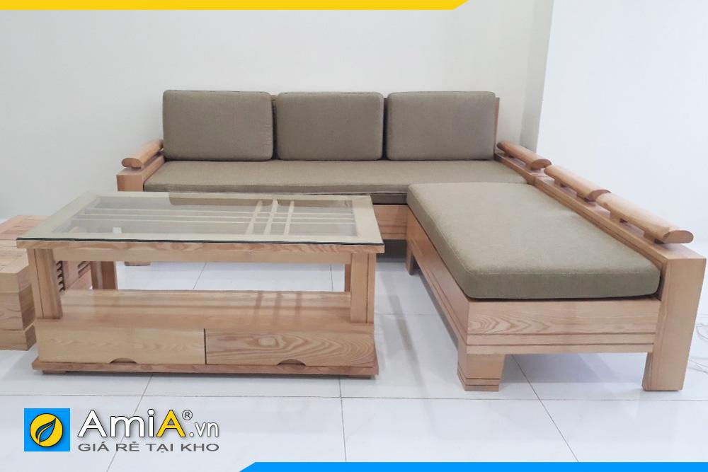 hình ảnh ghế sofa gỗ kích thước nhỏ