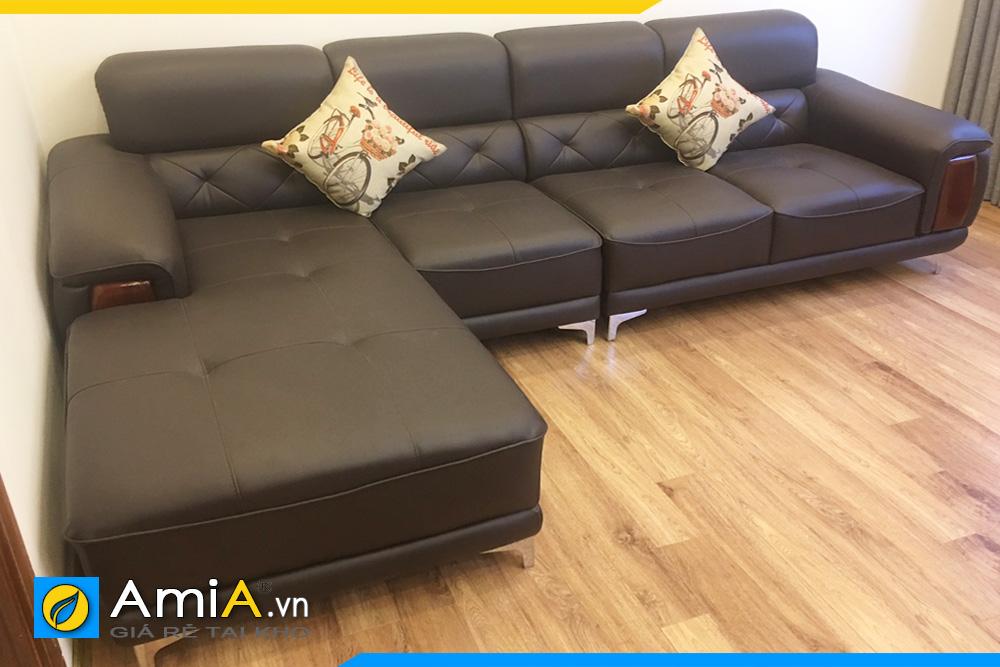 Ghế sofa da kiểu góc đẹp