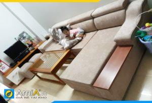ghế sofa nỉ kiểu góc chữ L