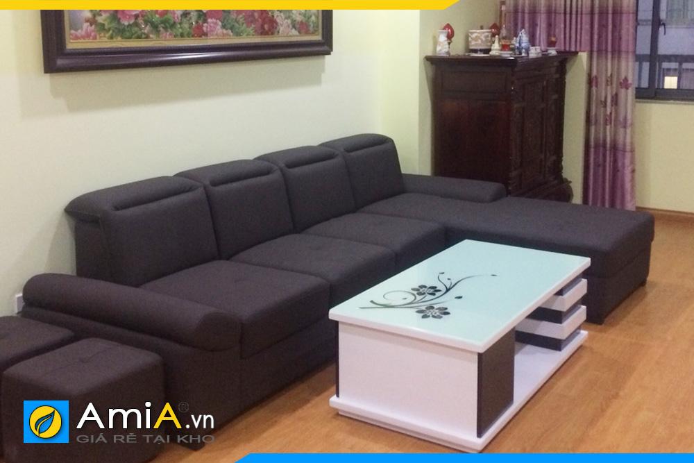 ghế sofa nỉ vải thô đẹp AmiA2120