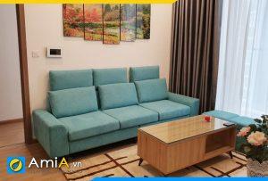 ghế sofa nỉ màu xanh trẻ trung AmiA2420