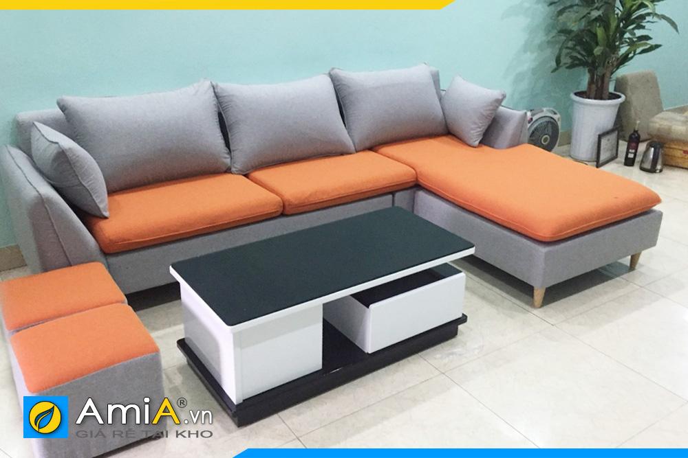 ghế sofa nỉ đẹp phối màu AmiA226