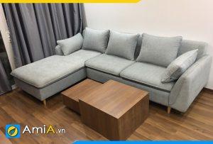 Ghế sofa bọc nỉ thô màu ghi AmiA3220