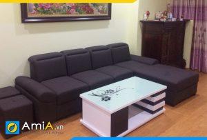 sofa đẹp bọc nỉ vải thô nhập khẩu