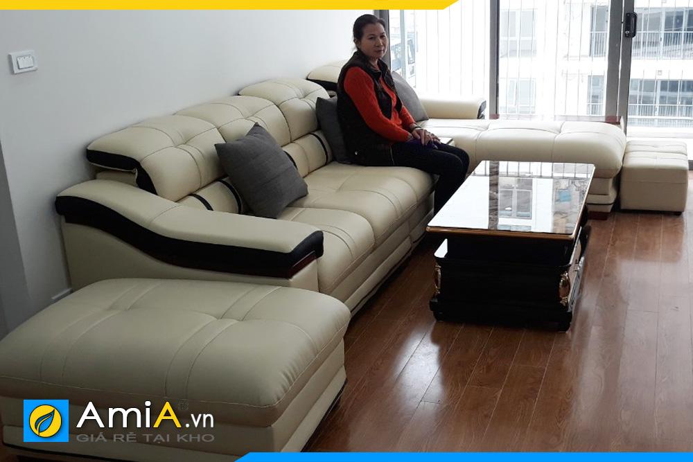 sofa cao cấp kê phòng khách sang trọng