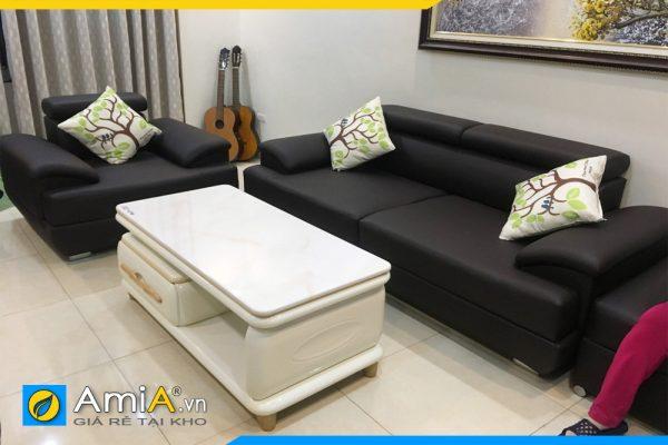 bộ ghế sofa văng da đẹp AmiA2720