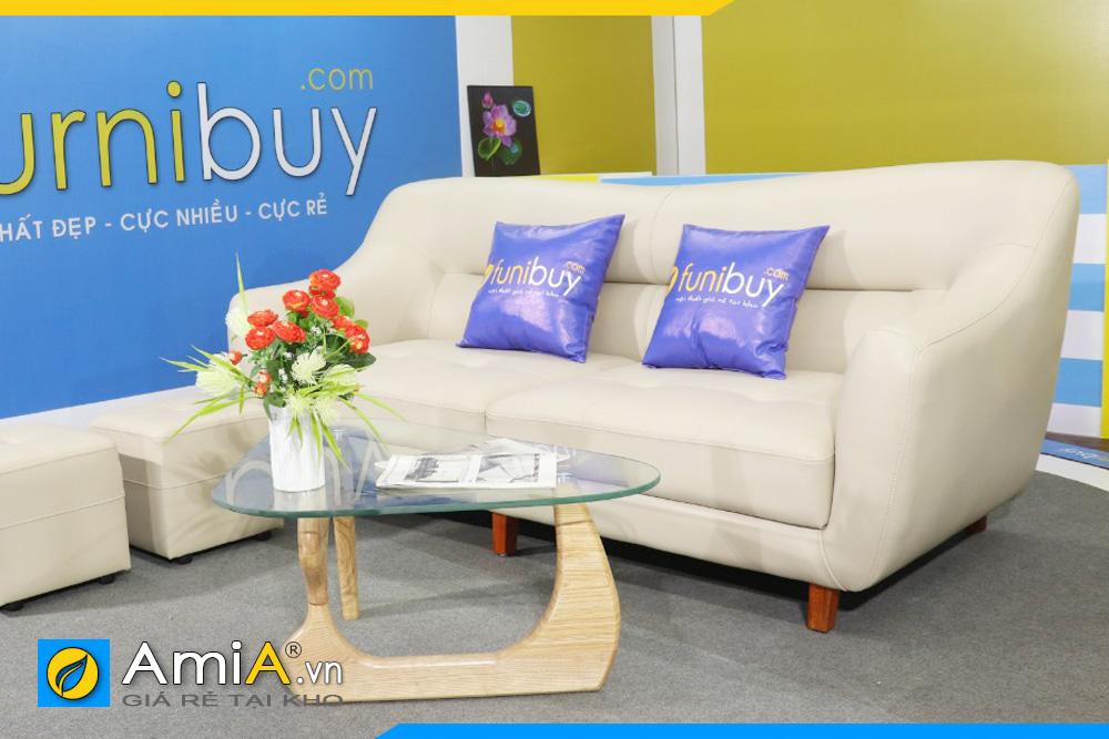Hình ảnh ghế sofa văng da đẹp AmiA FB163