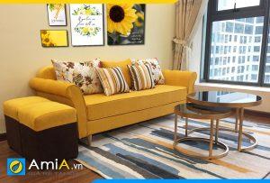 Ghế sofa nỉ thô đẹp màu vàng