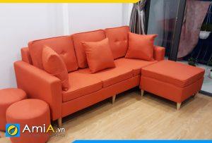ghế sofa văng nỉ màu cam AmiA3720