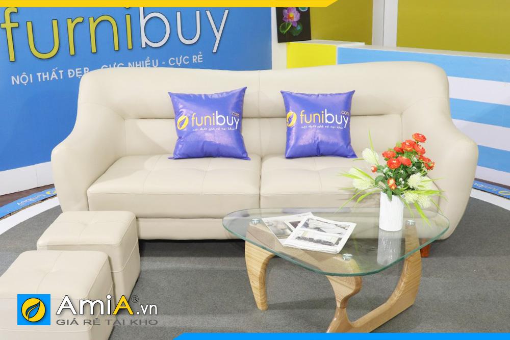 ghế sofa da thiết kế đẹp AmiA FB163