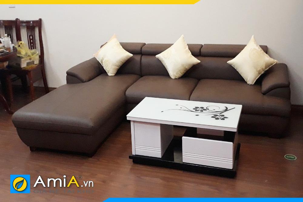 Hình ảnh ghế sofa da AmiA094