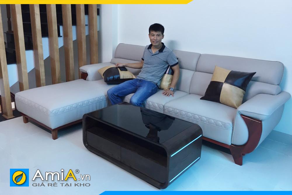 hình ảnh ghế sofa da đẹp nhất AmiA231