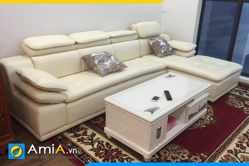 hình ảnh thực tế ghế sofa da đẹp