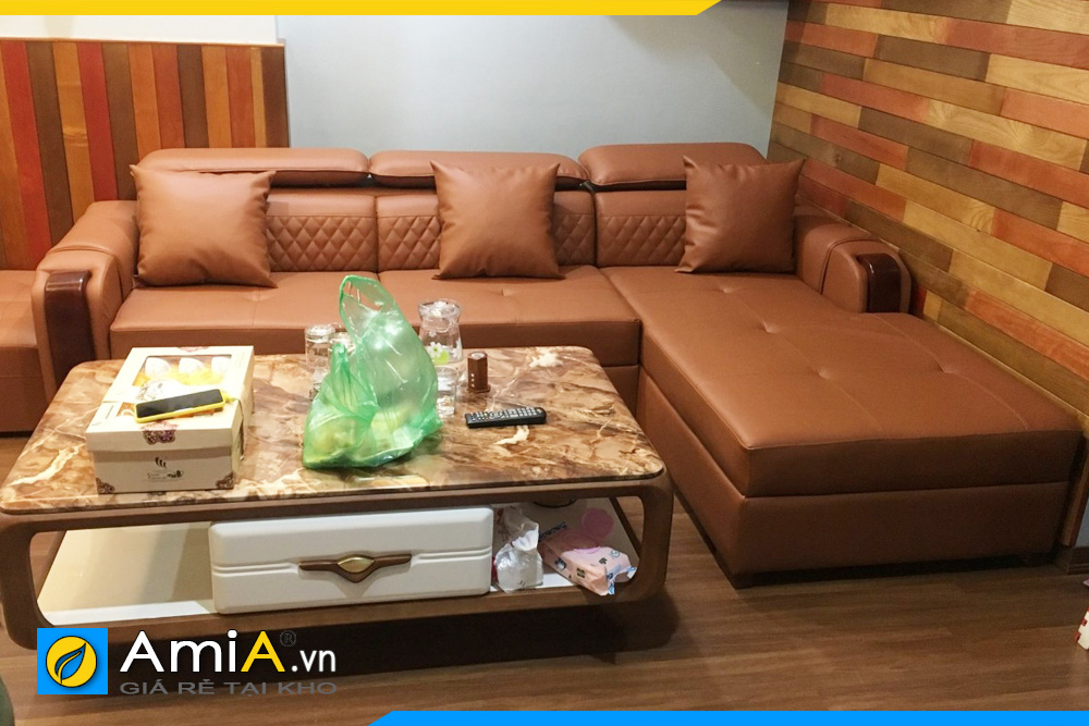 ghế sofa da đẹp giá rẻ AmiA130