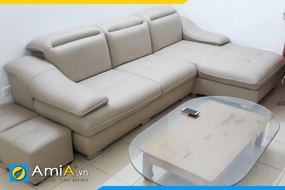 ghế sofa da đẹp nhỏ xinh amia097