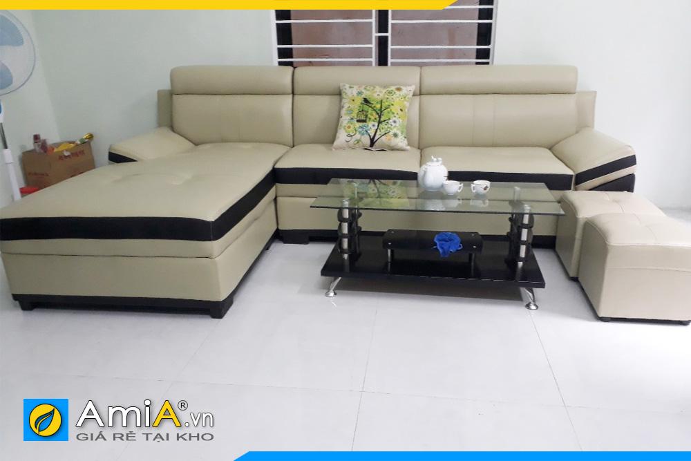 Sofa phòng khách chất liệu da