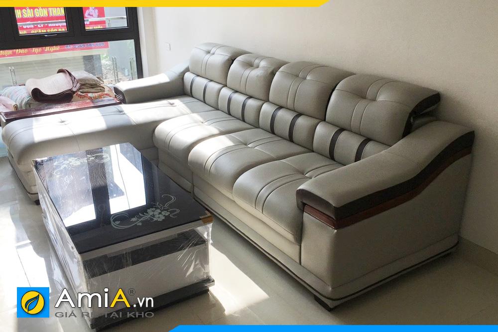 Hình ảnh ghế sofa da đẹp AmiA179