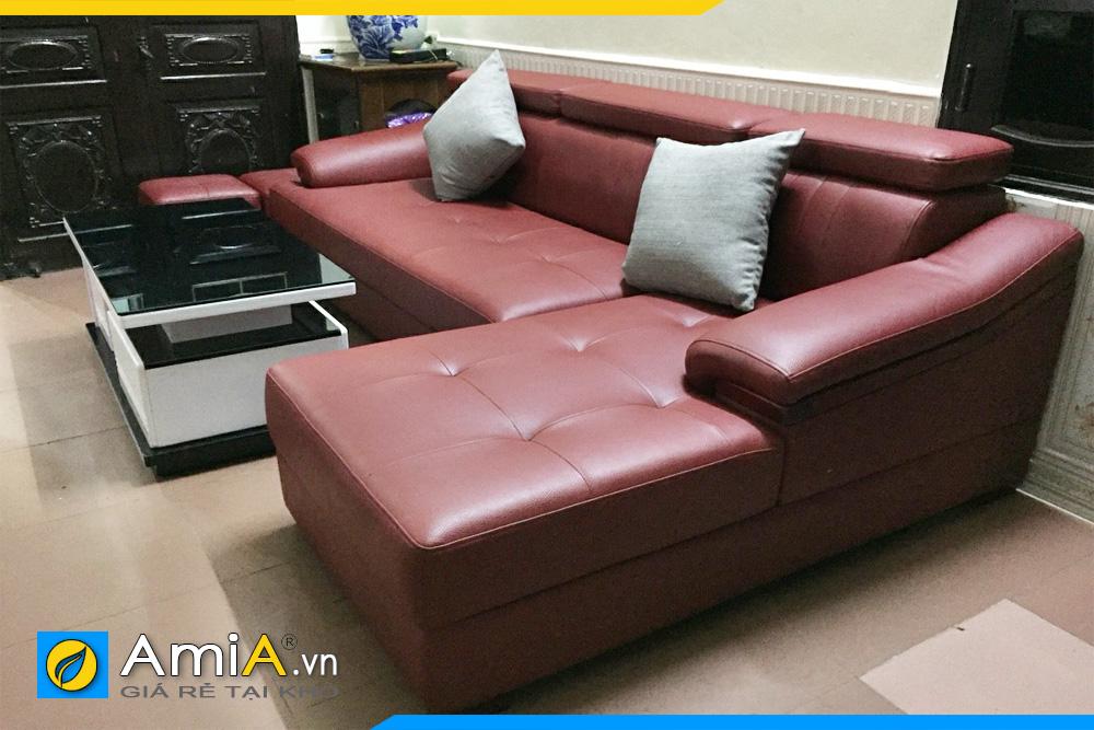 hình ảnh ghế sofa da đẹp AmiA160