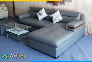 sofa da đẹp nệm mút dày siêu êm ái