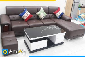 mẫu ghế sofa da đẹp sang trọng AmiA193