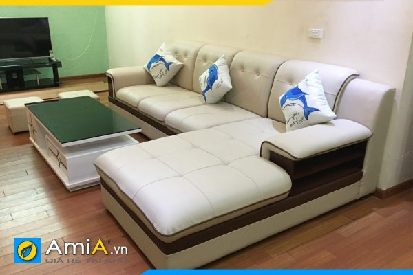 Mẫu ghế sofa da đẹp giá rẻ AmiA157