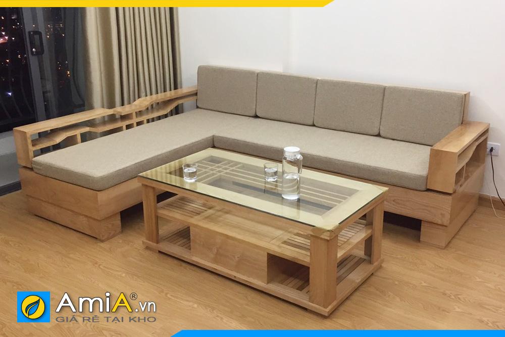 mẫu ghế sofa gỗ sồi tự nhiên đẹp giá rẻ