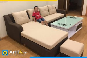 ghế sofa nỉ đẹp phối màu AmiA2220