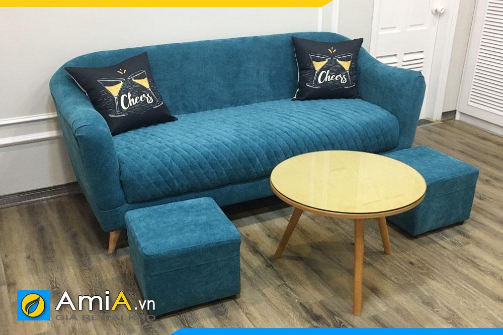mẫu thiết kế sofa văng nỉ đẹp