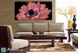 Tranh hoa treo tường phòng khách hiện đại SH01