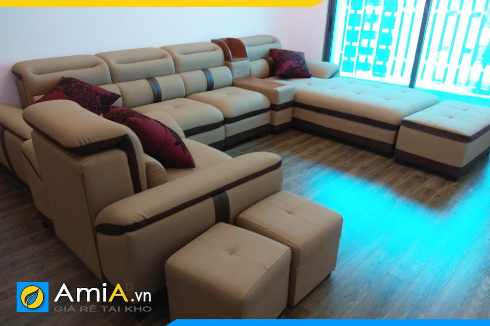 sofa cho phòng khách chung cư rộng