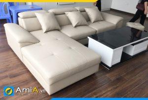 sofa da đẹp giá rẻ bình dân