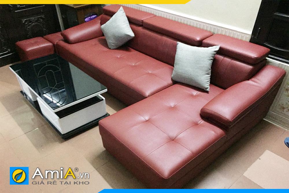 sofa da đẹp dạng góc L