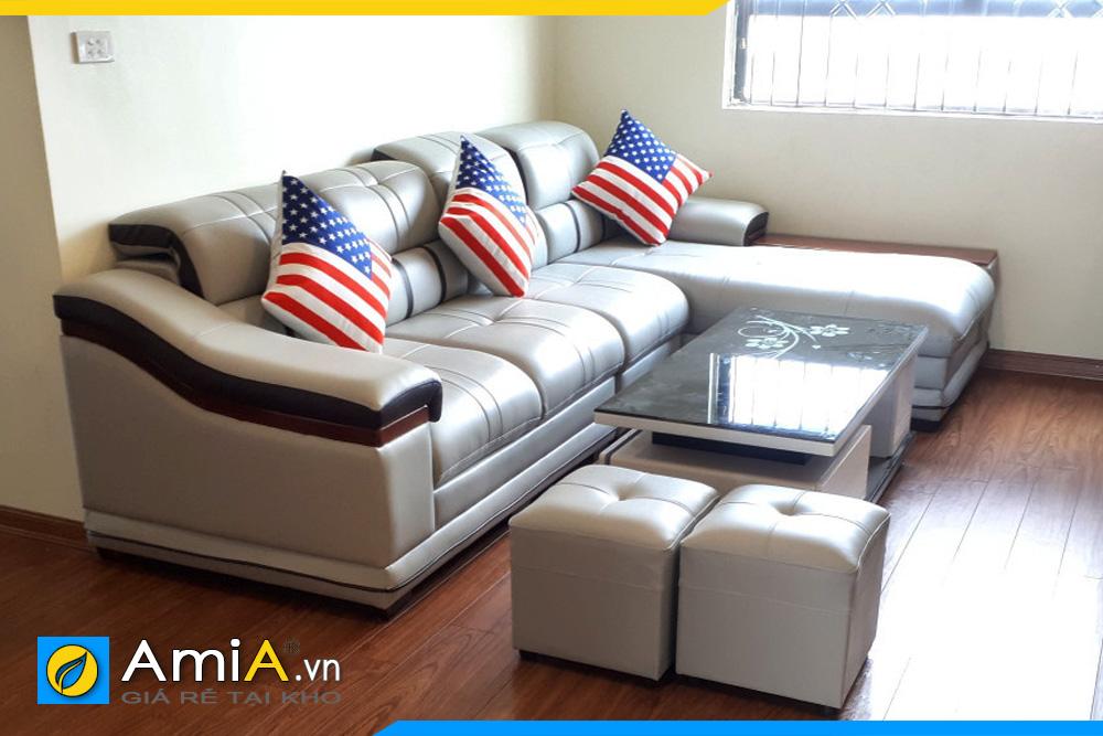 Ghế sofa da đẹp sang trọng AmiA179