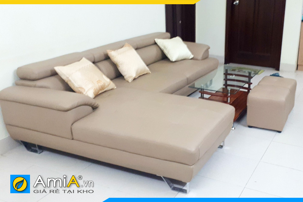 ghế sofa da giá rẻ nhất AmiA094