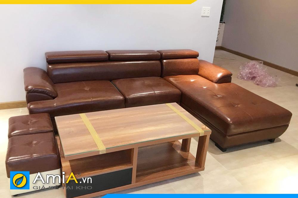 Hình ảnh thực tế ghế sofa da
