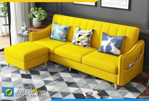 ghế sofa mini AmiA217 bọc nỉ màu vàng