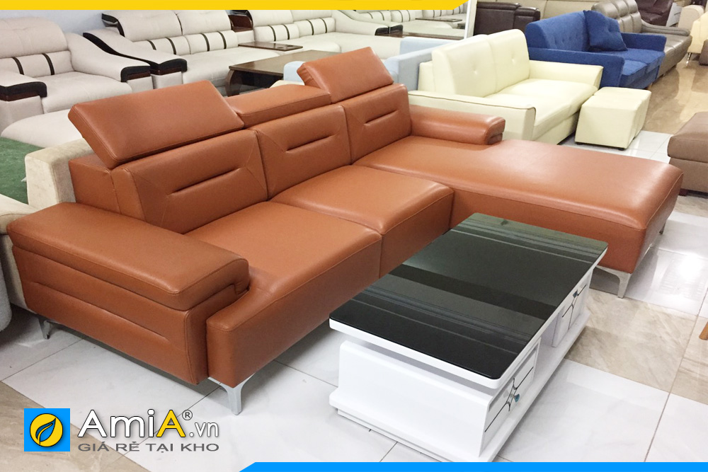 ghế sofa bọc da loại tốt AmiA222