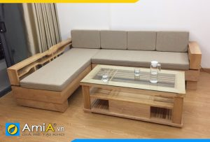 sofa gỗ sồi đẹp giá rẻ