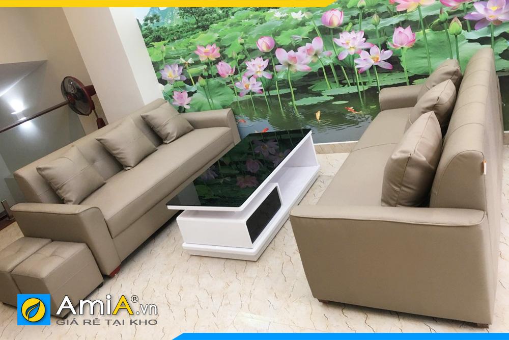 ghế sofa phòng khách gồm 2 ghế văng dài
