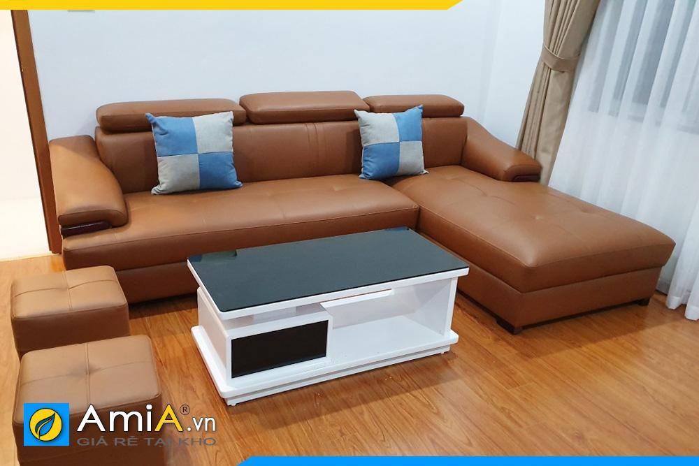 ghế sofa chất liệu da đẹp