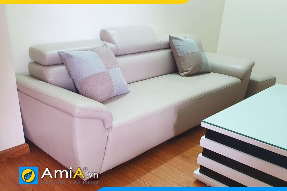 sofa da đẹp cho phòng khách nhỏ