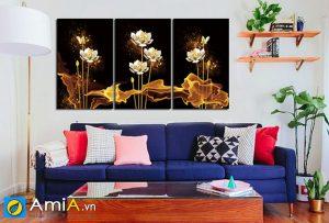 Tranh hoa sen nghệ thuật hiện đại Amia 1622