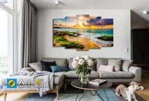 Tranh phong cảnh bình minh trên biển đẹp Amia 1629