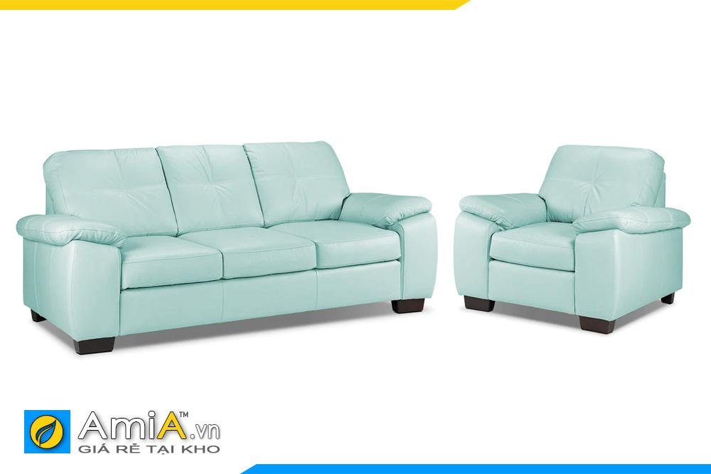 Mẫu sofa phòng khách màu xanh