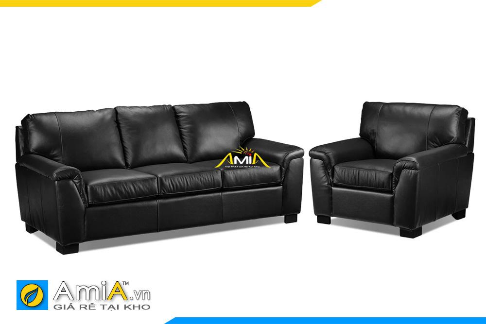 ghế sofa da màu đen sang trọng