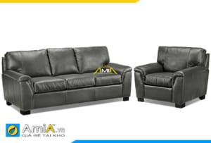 Bộ ghế sofa phòng khách bọc da AmiA 20106