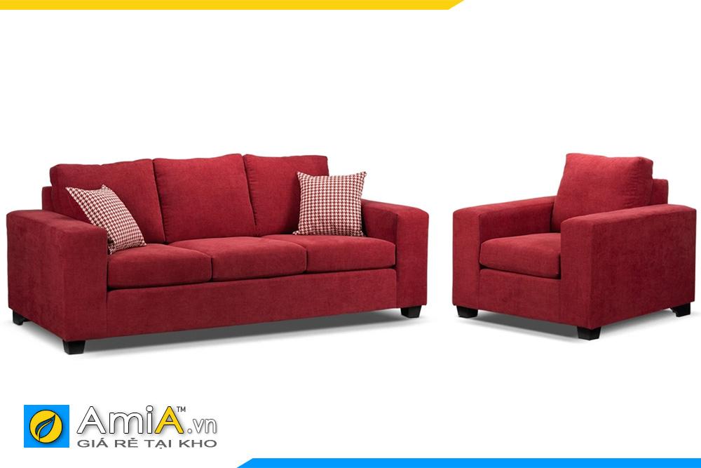 sofa phòng khách màu đỏ AmiA 20104